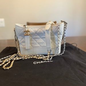 CHANEL Patent Goatskin Quilted Small Gabrielle
